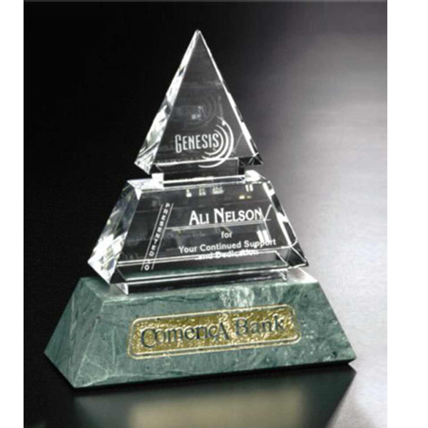 Personalized Vandalia Pyramid Award