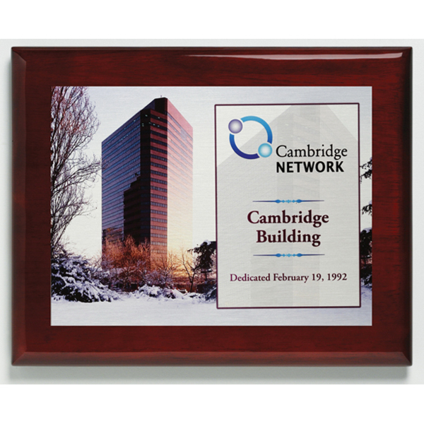 Promotional Aberdeen Rosewood Plaque with Sublimated Plate