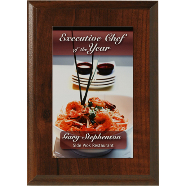 Econo Cherry Plaque with Sublimated Plate