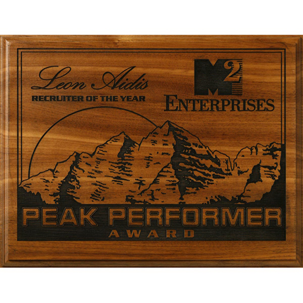 Kodiak Walnut Laser Plaque