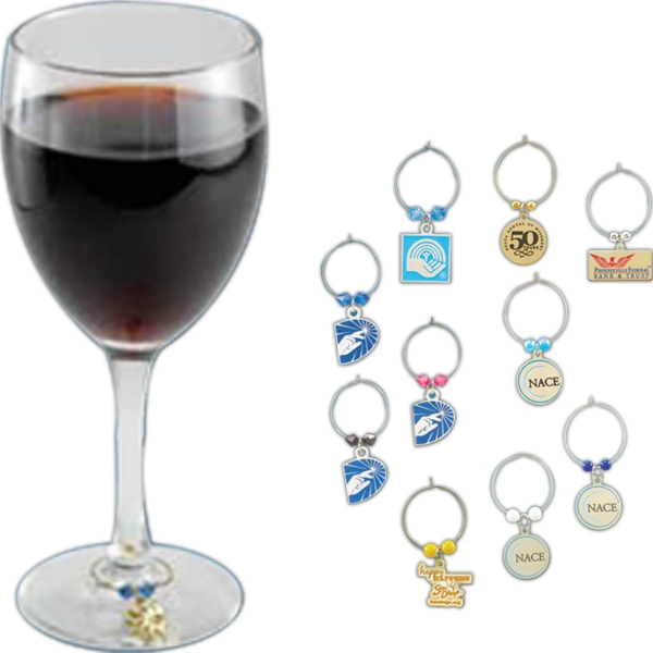 Imprinted Wine Charm