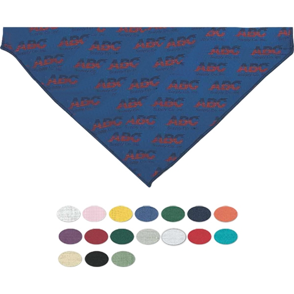 Small triangle pet bandana with hemmed opening
