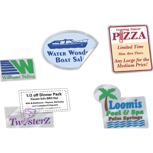 Promotional Clear Removable Custom Shape Decals