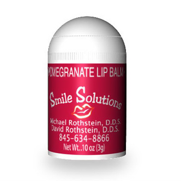 Custom label SPF 15 pomegranate lip balm bullet