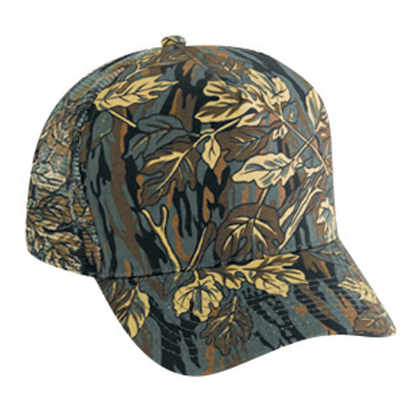 Five Panel Low Crown Golf Style Mesh Back Cap