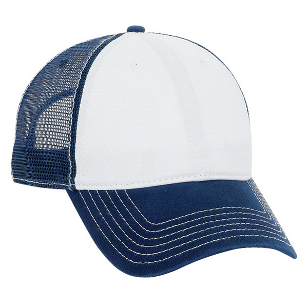 Six Panel Low Profile Mesh Back Cap