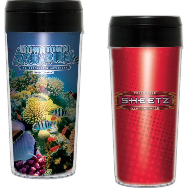 16 oz Elite Insert Insulated Tumbler with Full Color Imprint