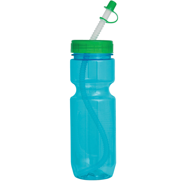 Promotional 22 oz Translucent Bike Bottle
