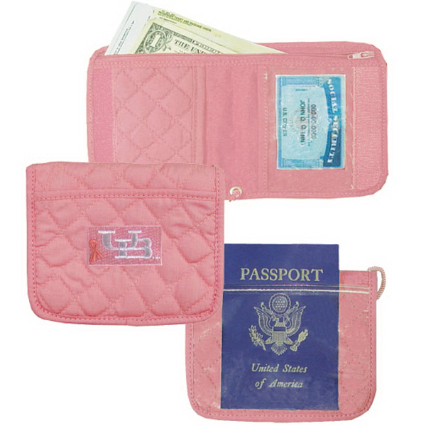 Embroidered quilted ID holder