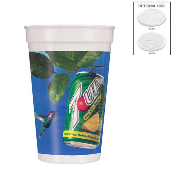 17 oz. Smooth Stadium Cup, Full Color Digital