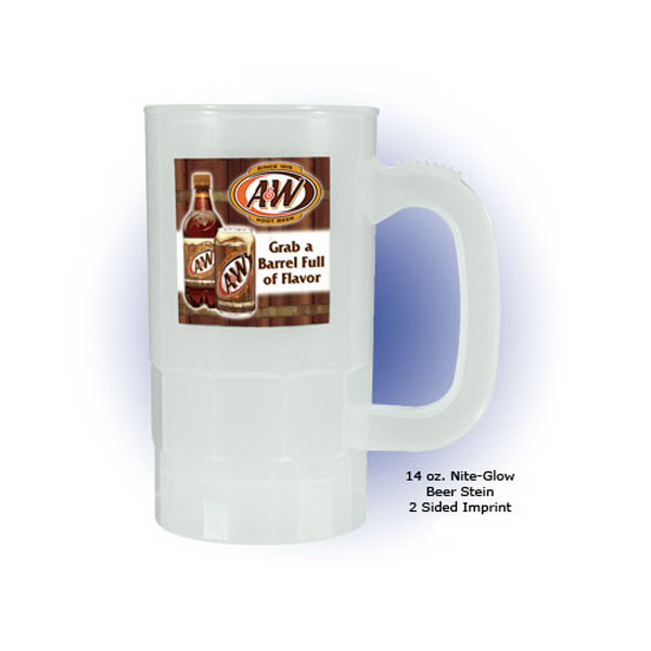 14 oz Nite-Glow Beer Stein, Full Color Digital
