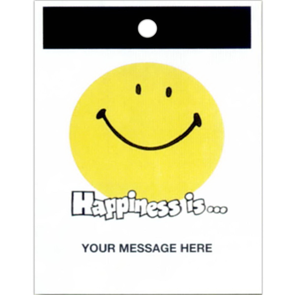Imprinted Litter Bag with Happiness Theme Stock Design
