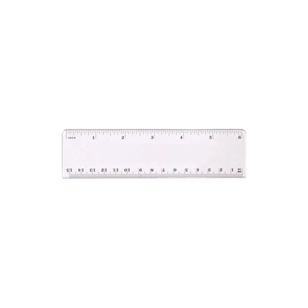 "6"" Plastic ruler, Full Color Digital"