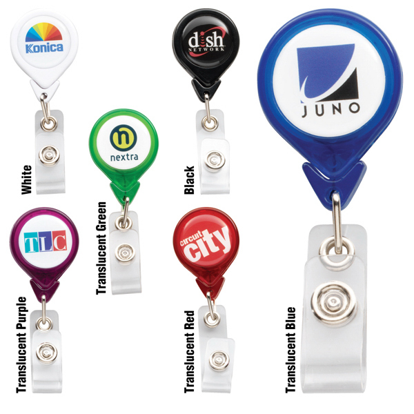 Promotional PhotoVision Teardrop Badge Holder