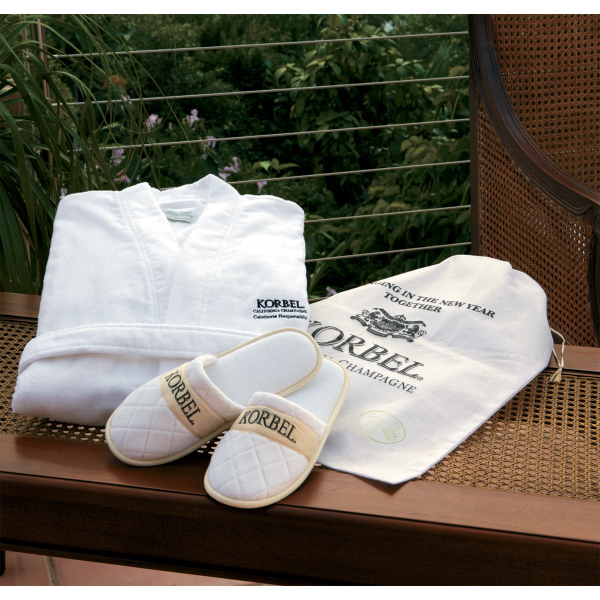 Cabana Bay (TM) Velour Robe and Slippers Gift Set