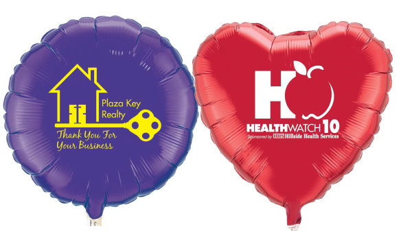 "18"" Microfoil (R) Round or Heart Balloons"