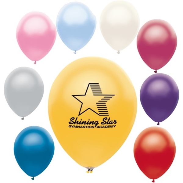 Economy Line AdRite Latex Balloons-Metallic Colors