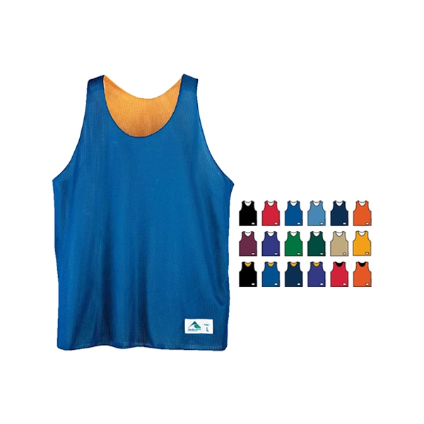 Fully reversible mini mesh league tank top