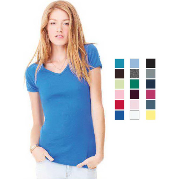 Bella + Canvas Women's Short Sleeve V-neck Tee