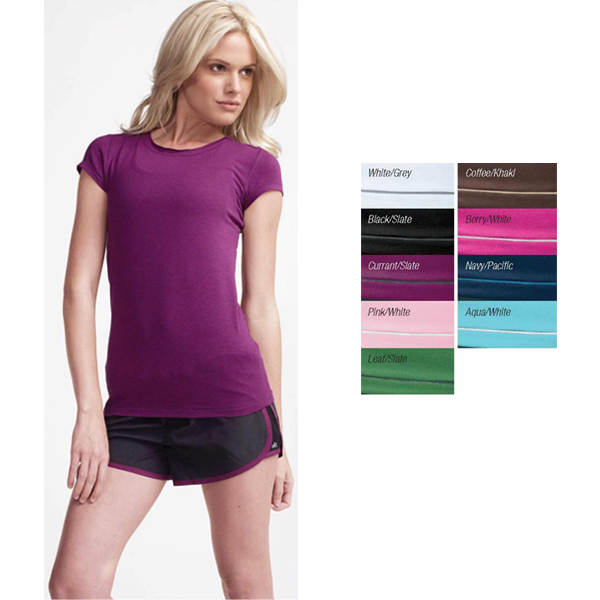 Alo Women's short sleeve bamboo contrast stitch tee