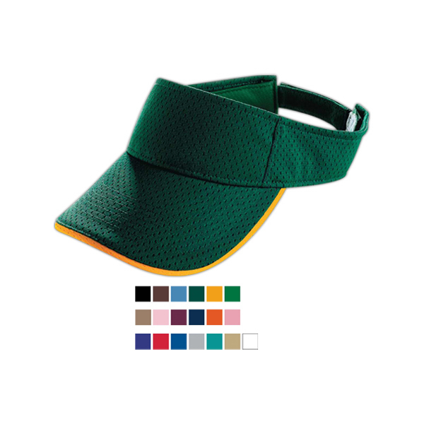 Athletic mesh two color visor
