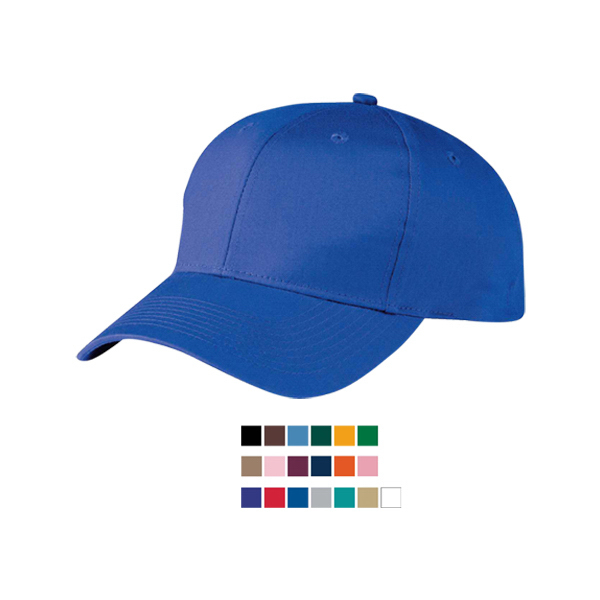 Six panel cotton twill low profile cap