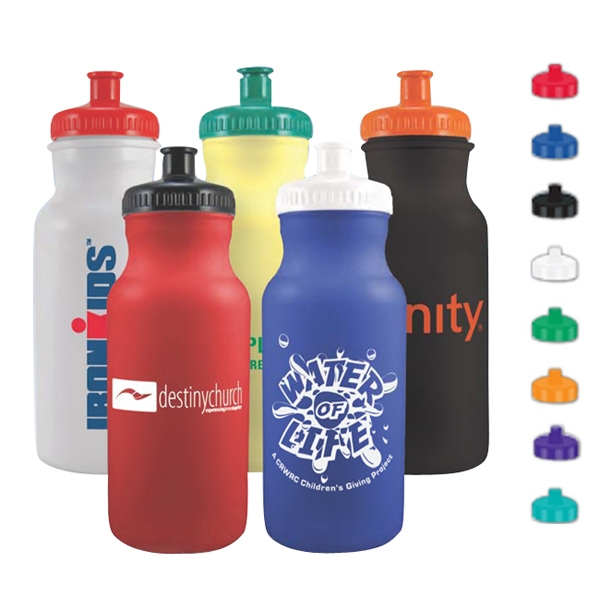 20 oz Colored Bike Bottle