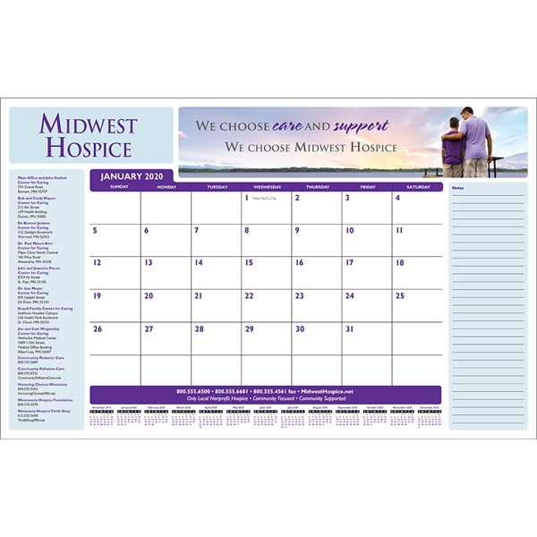 Full Color Desk Pad Calendar