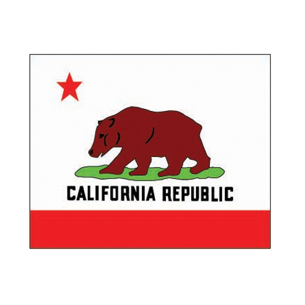 Printed California State Flag