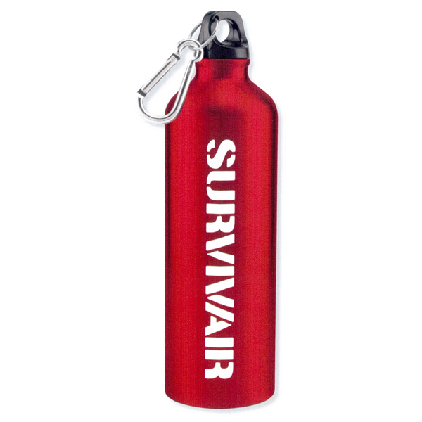 Personalized Aluminum sports bottle with carabiner - 25oz