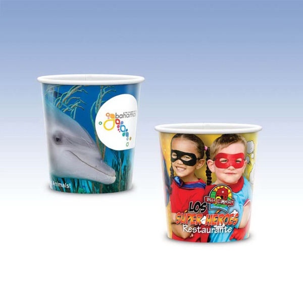 12oz-Reusable White Plastic Cup-Hi-Definition Full-Color