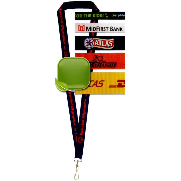 Recycled Silkscreened Polyester Lanyard