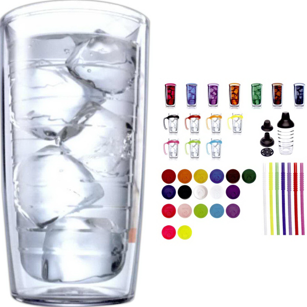 Set of Four Tervis 16 oz. Insulated Tumblers