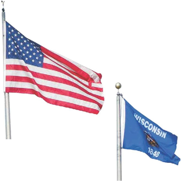 Nylon Banner Style Outdoor U.S. Flag with Pole Sleeve