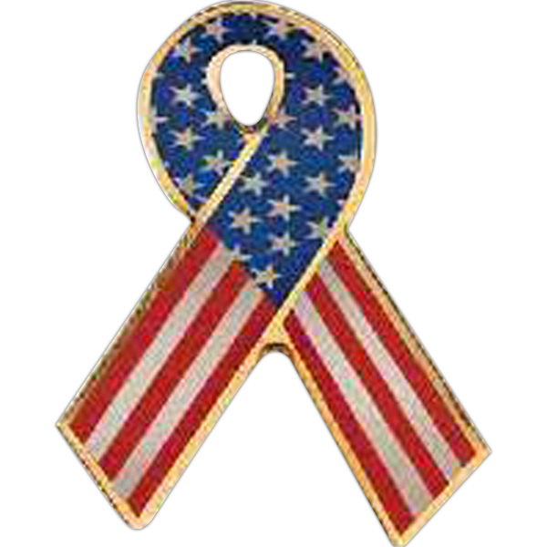 Patriotic Line Ribbon Pin