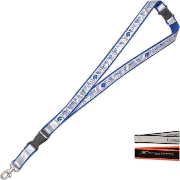 Screen-Printed Satin Band Lanyard