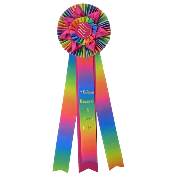 Custom ribbon with streamers