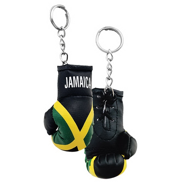 Laced Boxing Glove Keychain