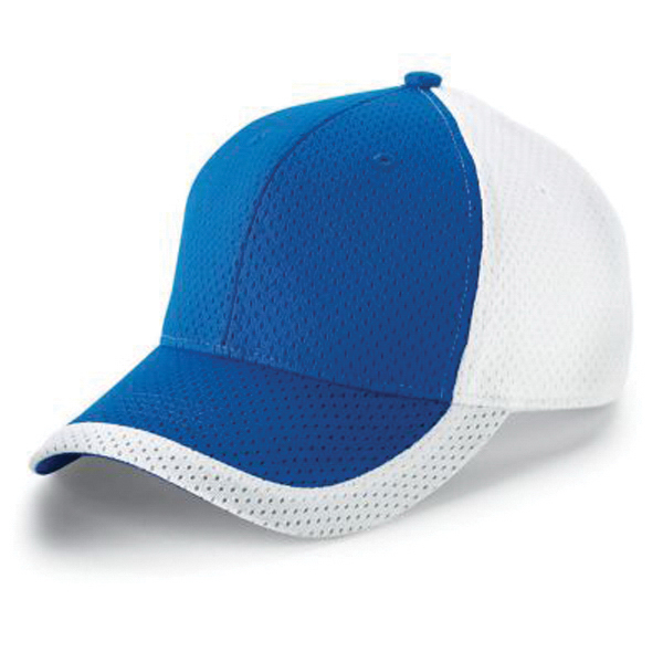 Color block athletic mesh cap