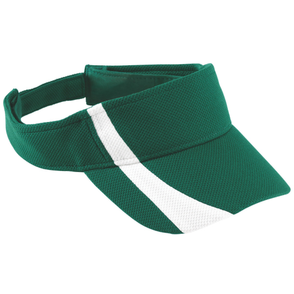 Adjustable wicking mesh two color visor