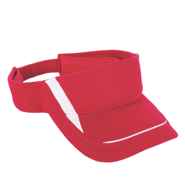 Adjustable wicking mesh edge visor