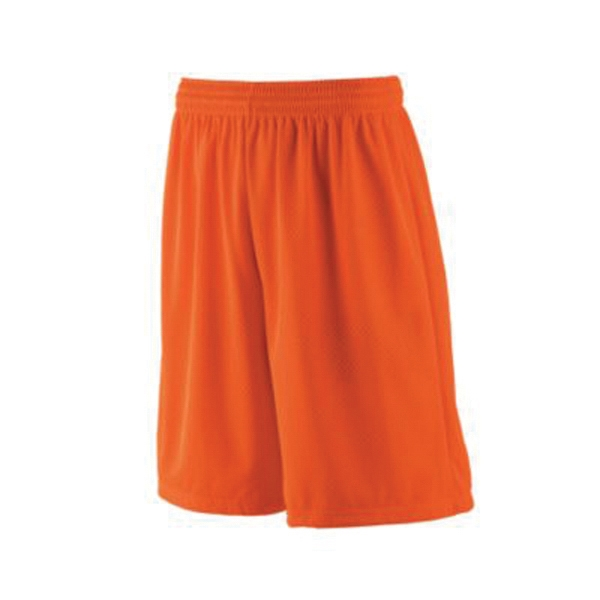 Long tricot mesh shorts with tricot lining