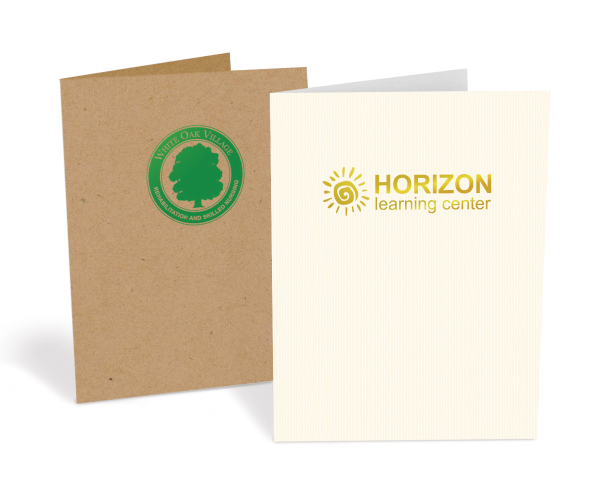 Presentation Folder-Std Paper-1 Color Foil Stamped