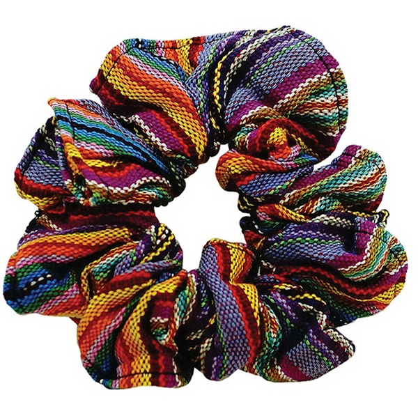 Guatemalan Scrunchies with Custom Labels