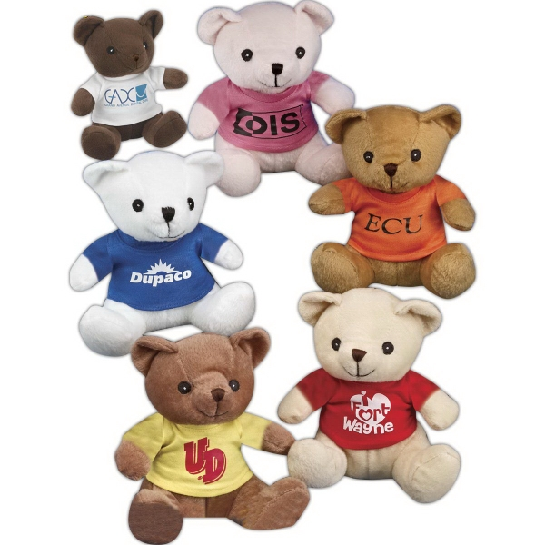 """Benny Bear (TM) 8"""" stuffed bear with embroidered eyes"""