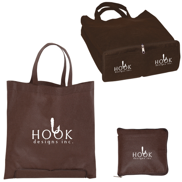 Non-Woven Zippered Folding Tote