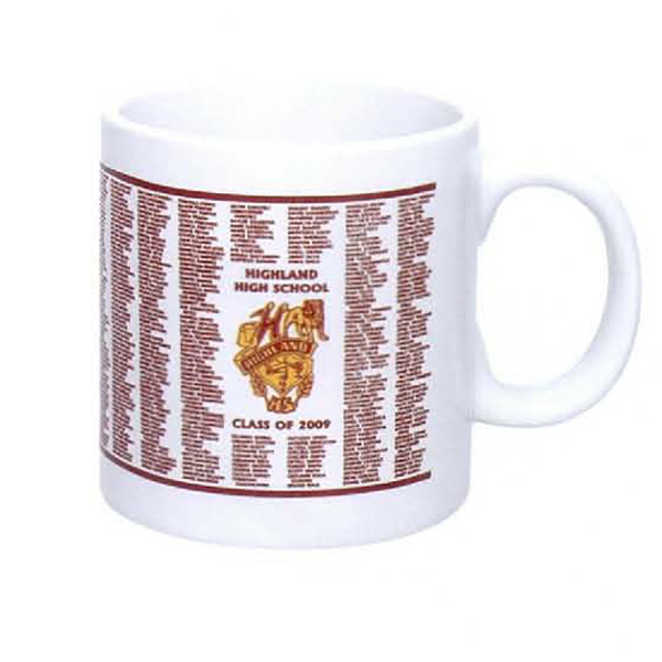 Personalized 20 oz. Jumbo Mug (White, Almond)