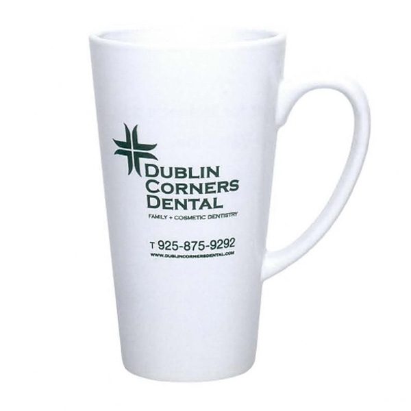 16 oz. Cafe Mug (White)