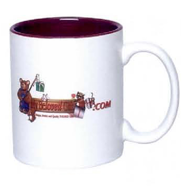 11 oz. C-Handle Photo Mug (Two Tone)