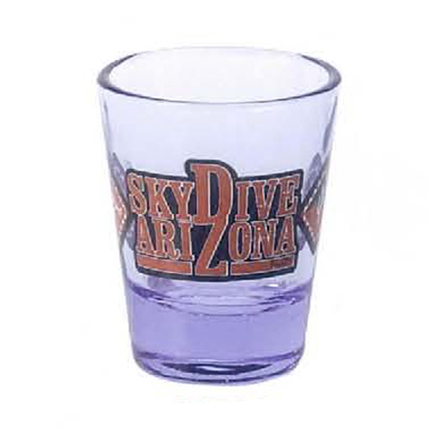 2 oz. Blue Tint Clear Shot Glass